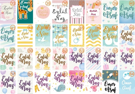 Baby Shower Bebek Lavanta Kesesi - Thumbnail