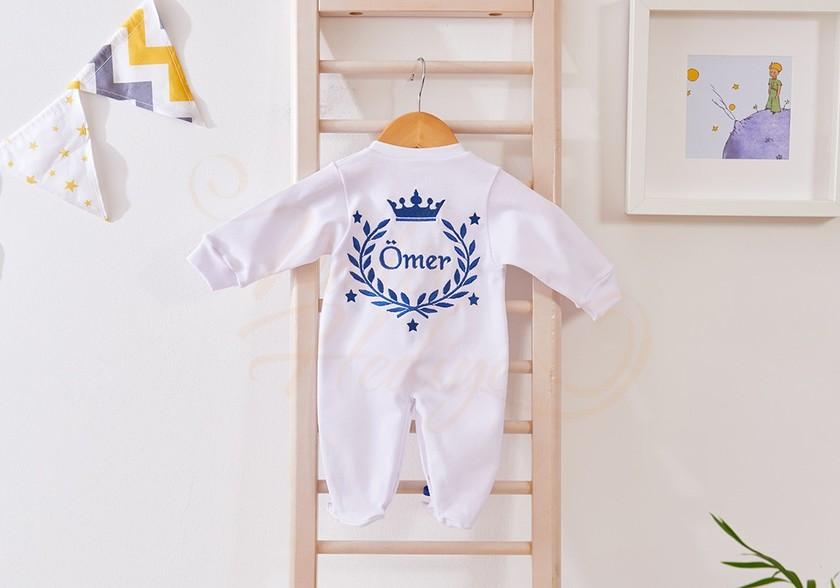 Bebek Tulum Takımı - İsimli ve Taçlı Tulum Seti