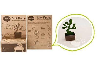 Bonsai Masaüstü Kalemlik ve Not Kağıtları - Thumbnail