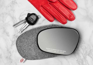 Dikiz Aynası Şeklinde Makyaj Aynası - Thumbnail
