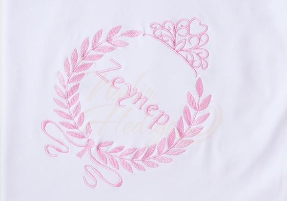 İsim Yazılı Bebek Battaniyesi - Prenses Taçlı - Thumbnail