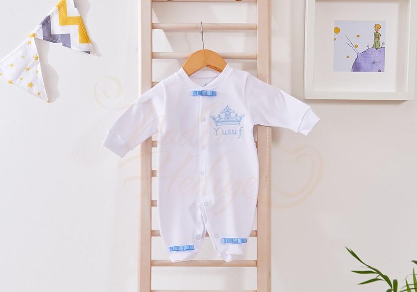 İsim Yazılı Bebek Tulumu - Erkek Bebek Hediyesi