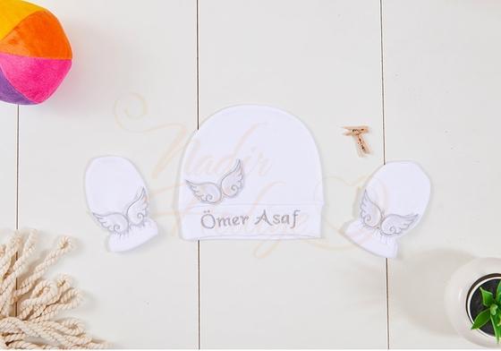 İsimli Bebek Tulumu - Arkası Kanatlı ve İsimli - Thumbnail