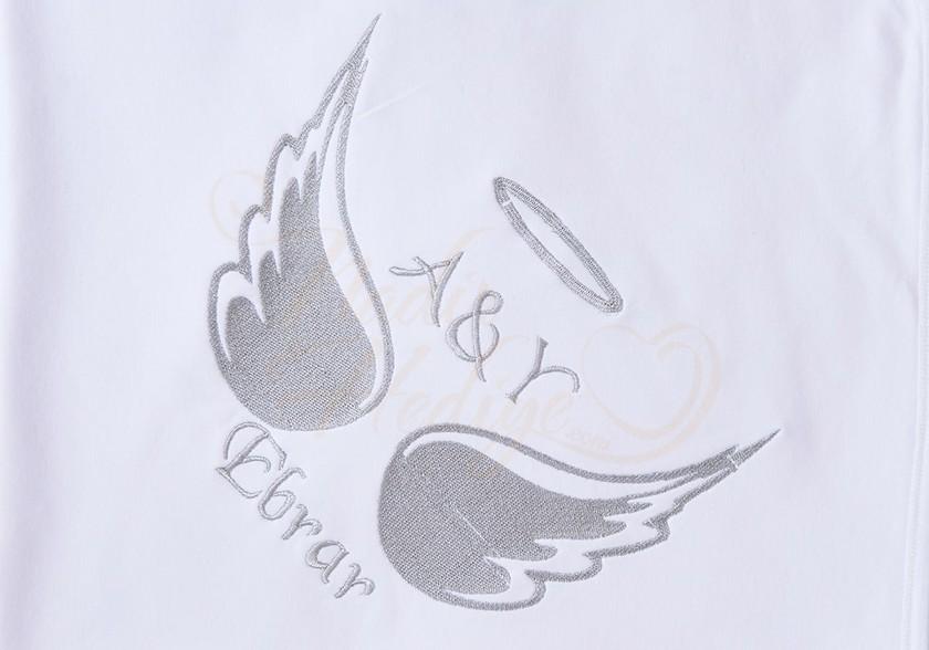 Melek Kanadı Battaniye - İsme Özel Nakışlı