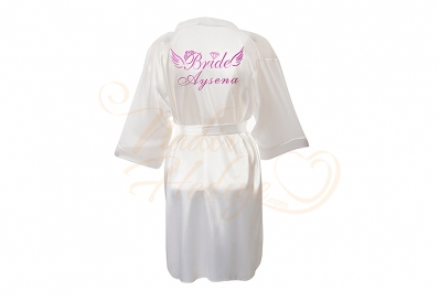Şık İsme Özel Bride Sabahlık – 90 cm - Thumbnail