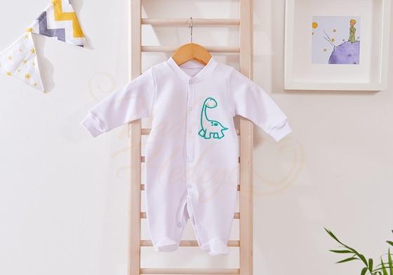 Tulum Seti - İsme Özel Dinazorlu Bebek Tulumu - Thumbnail